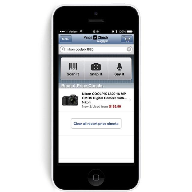 iPhone with Amazon Price Check App