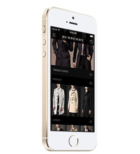Phone with Burberry app