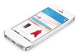 Phone with shopkick app
