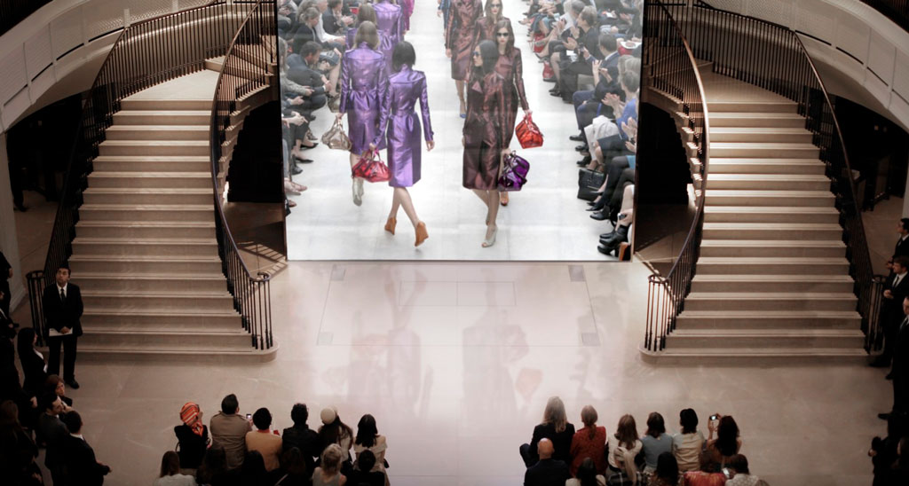 Burberry Regent Street store interior with live music performance